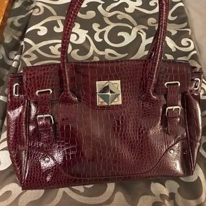 Burgundy handbag by Nine West